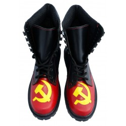 Cosplay Hammer Sickle Combat Boots Airsoft
