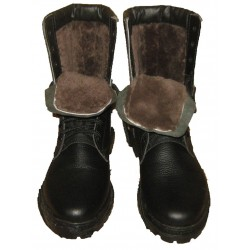 Winter Combat Boots Natural Fur