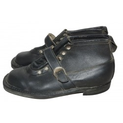 Vintage Leather Boots Shoes With Belts